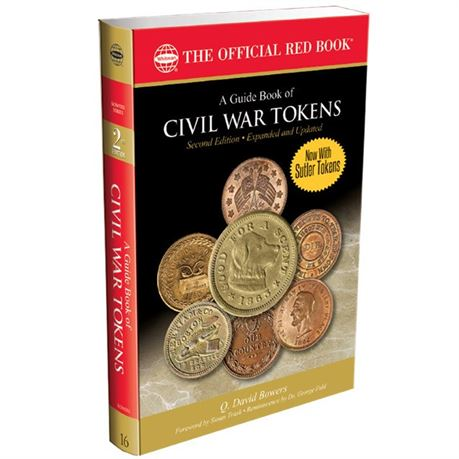 2nd Edition Civil War Tokens Red Book with Prices by Q. David Bowers With Sutler