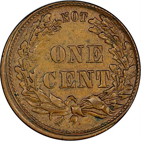 91/373 a Patriotic Civil War Token PCGS MS62 BN R7 Very Rare Reverse Die