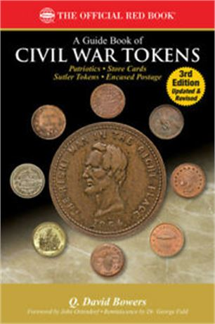 3rd Edition Civil War Tokens Red Book with Prices by Q. David Bowers With Sutler