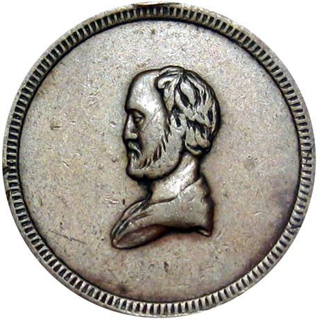 35  -   84/148 a R7 Raw EF Stanton Self Portrait Patriotic Civil War token
