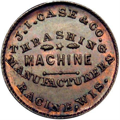 404  -  WI700A-1a R8 Raw UNC Details Racine Wisconsin Civil War token