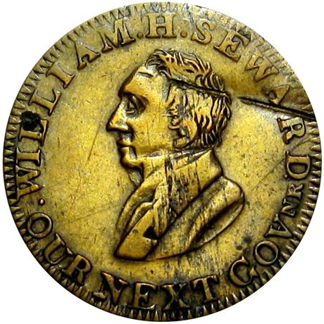 495  -  LOW  13 / HT-26 R4 Raw EF Details William Seward Hard Times token