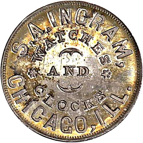 IL150AG-4f Silver Chicago Illinois Civil War Token NGC MS63 R9