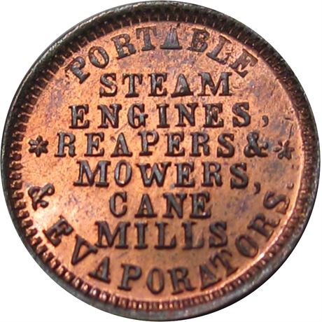 OH725B-1a Perrysburg Ohio Civil War Token NGC MS67 RB