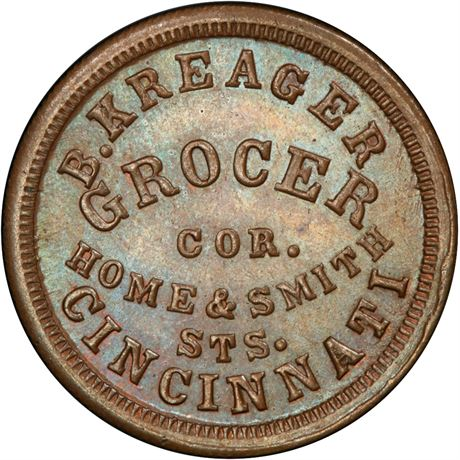 OH165CU-8a Cincinnati Ohio Grocer Civil War Token PCGS MS64 R7