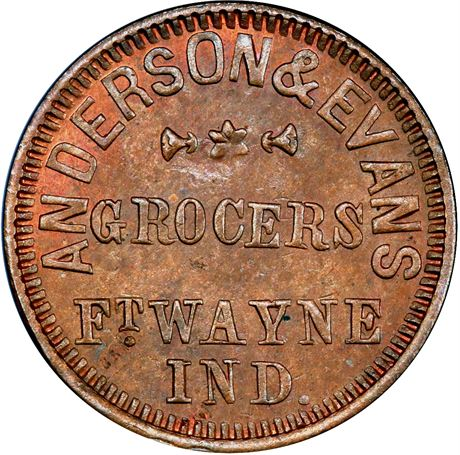 IN290B-1a Fort Wayne Indiana Civil War Token PCGS MS64