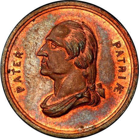1859 George Washington New York City A B Sage Merchant Token PCGS MS64 RB