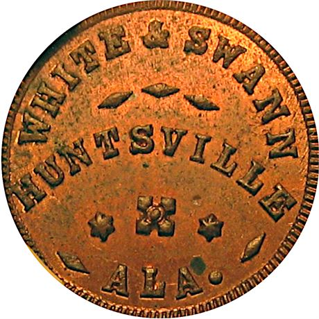 AL425A-4a Huntsville Alabama Civil War Token NGC MS62 RB R9