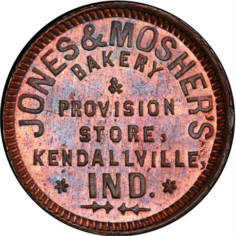 IN500K-1a Kendallville Indiana Civil War Token PCGS MS64